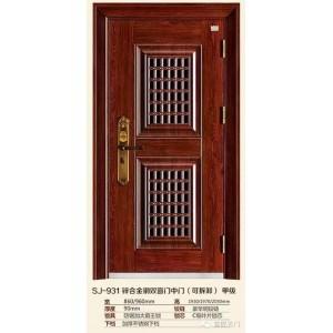 913方孔双窗门中门 窗门 通风门  三七门