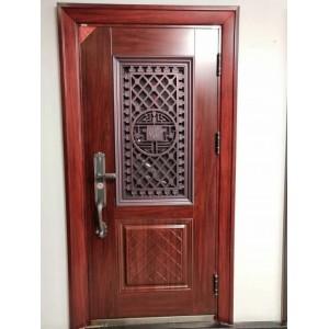 铸铝门 门中门 铝窗门 通风门 顺风9cm甲级单窗门中门