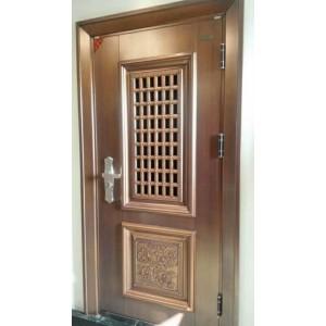 花开富贵门中门  安全门 拼接门 9cm 仿真铜漆